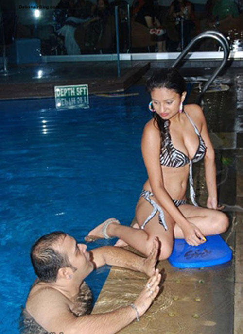 Dimpy and Rahul At Pool Party Still