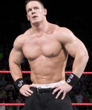 Wrestler John Cena in Ring
