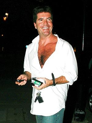 Simon Cowell In White Shirt Pic