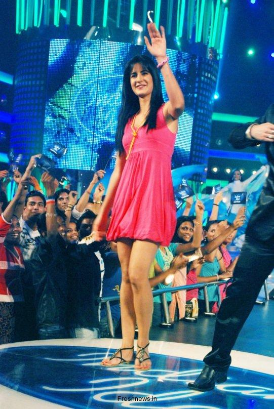 Katrina Kaif Cute Short Dress Still at Indian Idol