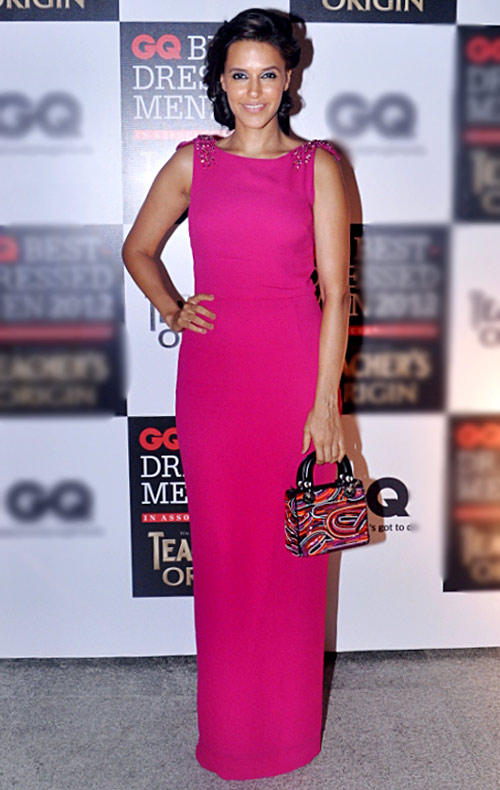 Neha Dhupia at GQ Best Dressed Men 2012 Magazine Event