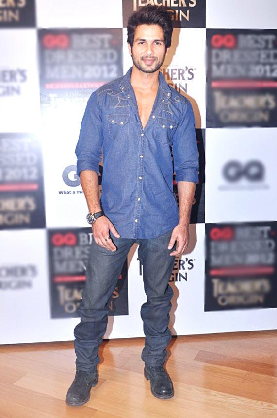 Shahid Kapoor  at GQ Best Dressed Men 2012 Magazine Event