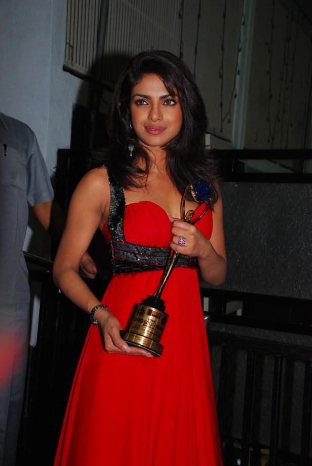 Priyanka Chopra Red dress Hot Pic