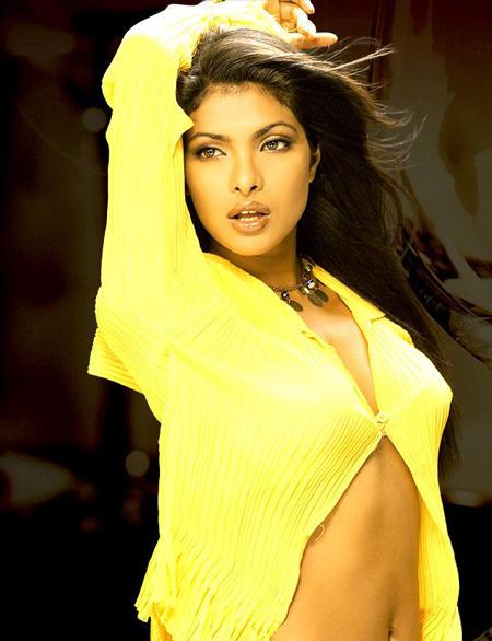 Priyanka Chopra Yellow Shirt Hot Wallpaper