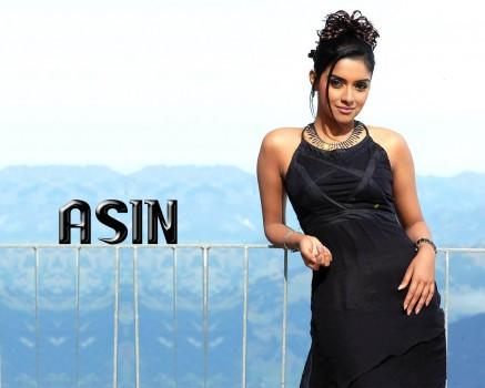 Asin Thottumkal Black Dress Sexy Pose Wallpaper