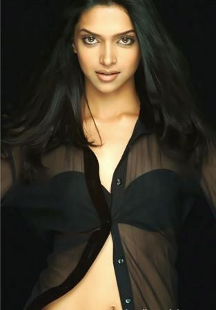 Deepika Padukone Posing Beautiful See Through Shirt