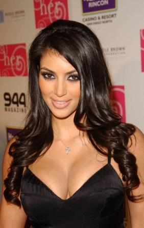Kim Kardashian Nice Look Pic In Black Dress