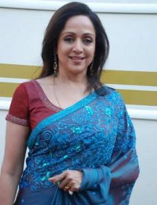 Evergreen Dream Girl Hema Malini In Blue Saree