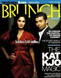 Karan Johar and Katrina Cover Brunch Magazine
