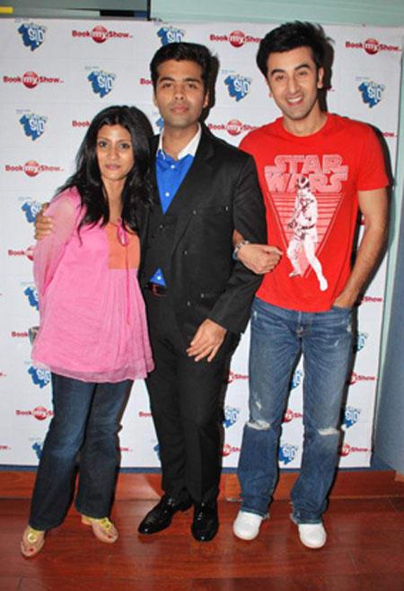Karan Johar and ranbir Pose To Photo Shoot