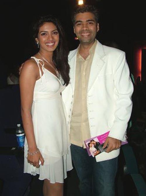 Karan Johar Sweet Pose With Priyanka
