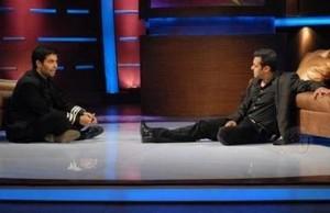 Salman and Karan Sitting On Floor