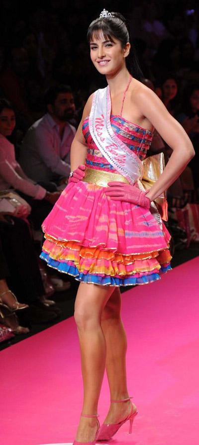 Katrina Kaif Becomes Barbie Doll On Ramp