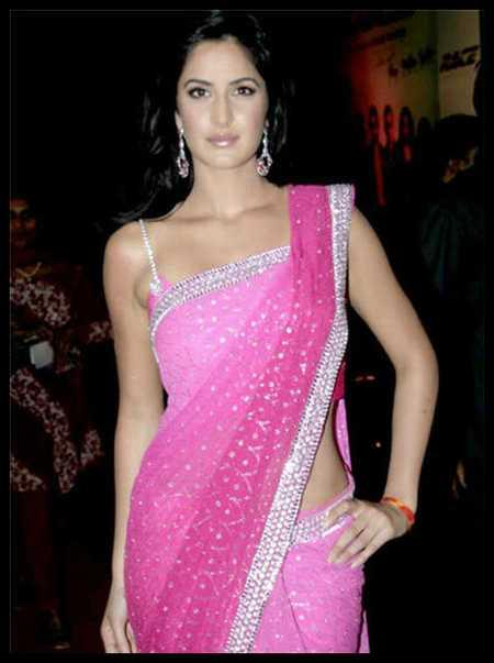 Katrina Kaif Sexy Saree Hot Pic