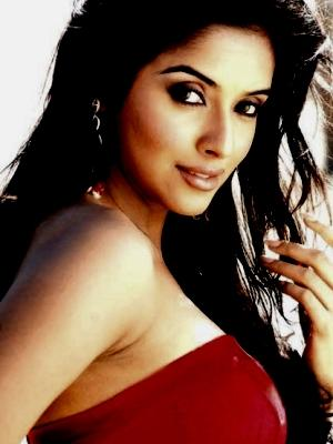 Asin Thottumkal Sexy Romantic Pic In Red Dress