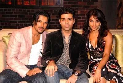 Bipasha Basu and John At Koffee With Karan Show