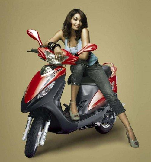 Bipasha Basu Sexy Pose On Scooty