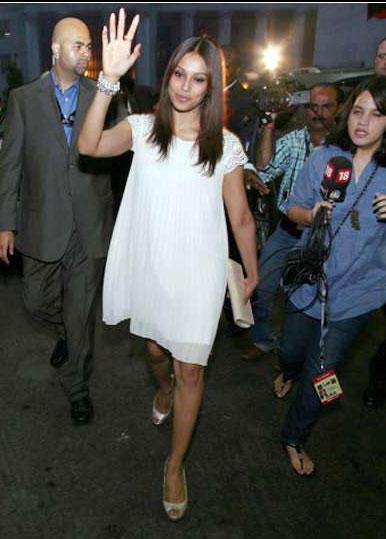 Bipasha Basu White Dress Still at IIFA