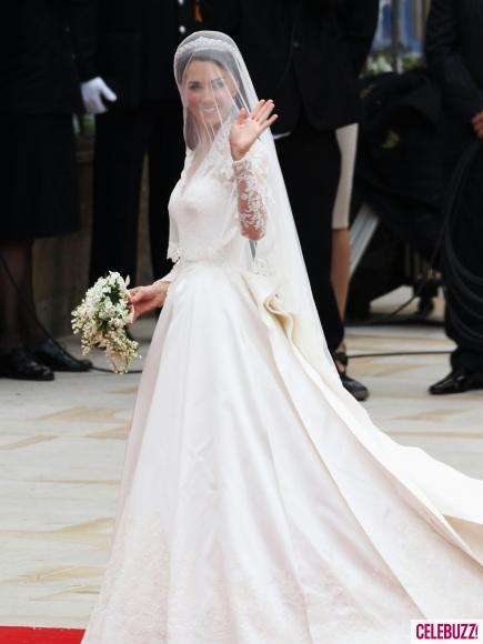 Kate Middleton In Alexander McQueen Gown