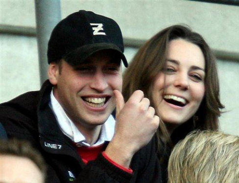 Prince William and Kate Middleton Smiling Photo