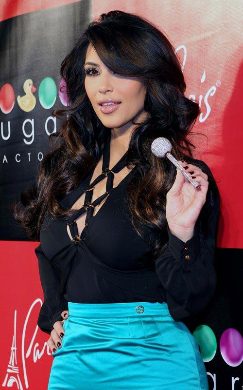Kim at the Grand Opening of Sugar Factory American Brasserie