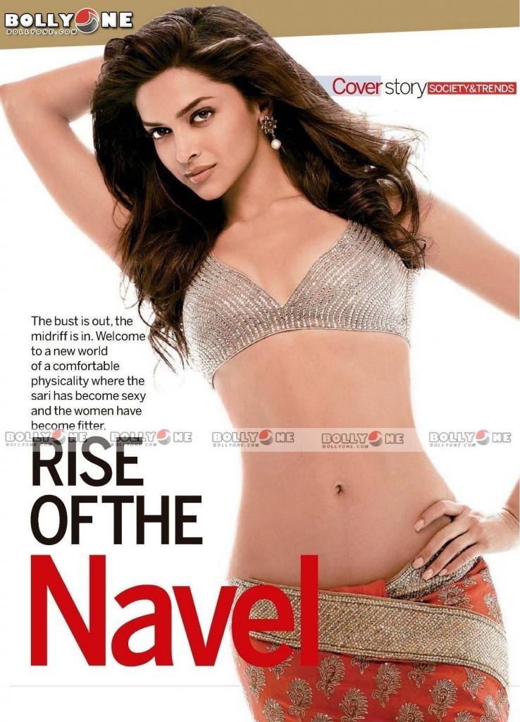 Deepika Padukone Spicy Navel Magazine Pic