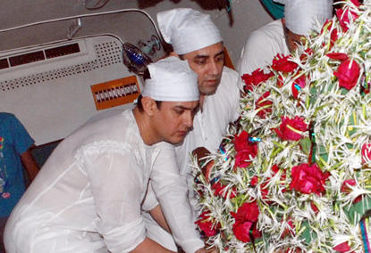 Aamir Khan Father Tahir Hussein's Funeral Photo