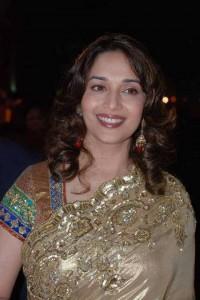 Madhuri Dixit Gorgeous Saree Smile Pic