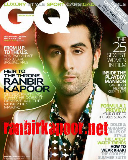 Ranbir Kapoor On GQ Magazine