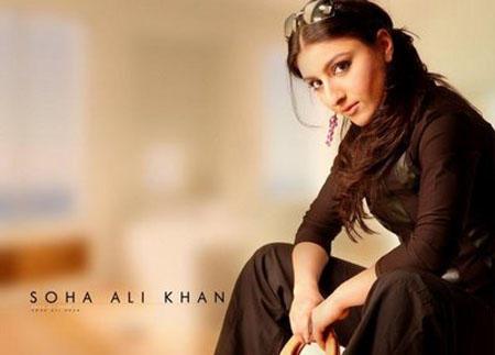 Soha Ali Khan Hot Look Wallpaper Photo