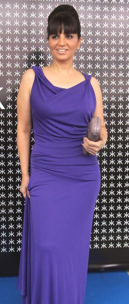 Neeta Lulla In purple Color Dress Hot Pic at Hakkasan Anniversary Bash