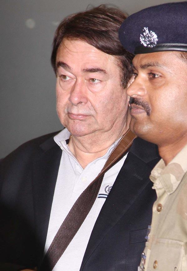 Randhir Kapoor At The Airport