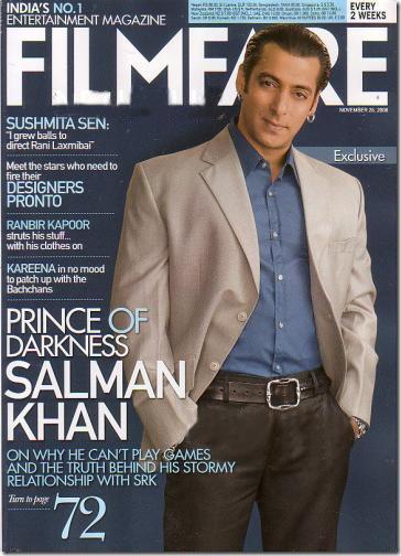Salman On Cover Page Of Filmfare Magazine