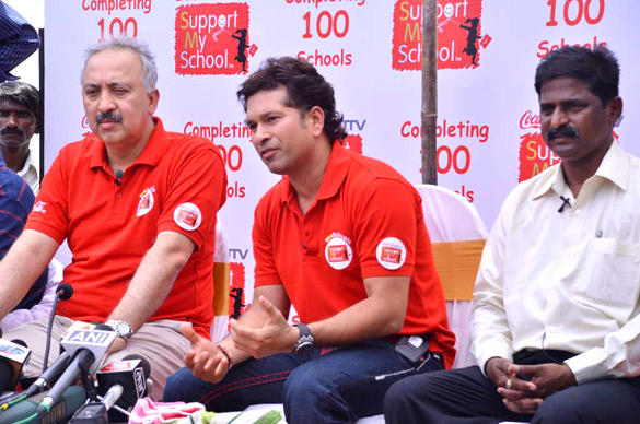Sachin Tendulkar At My School 100th School Launch