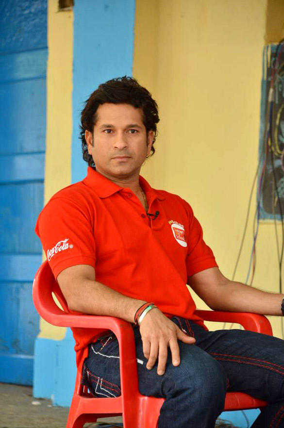 Sachin Tendulkar At NDTV Coca Cola Support My School 100th School Launch