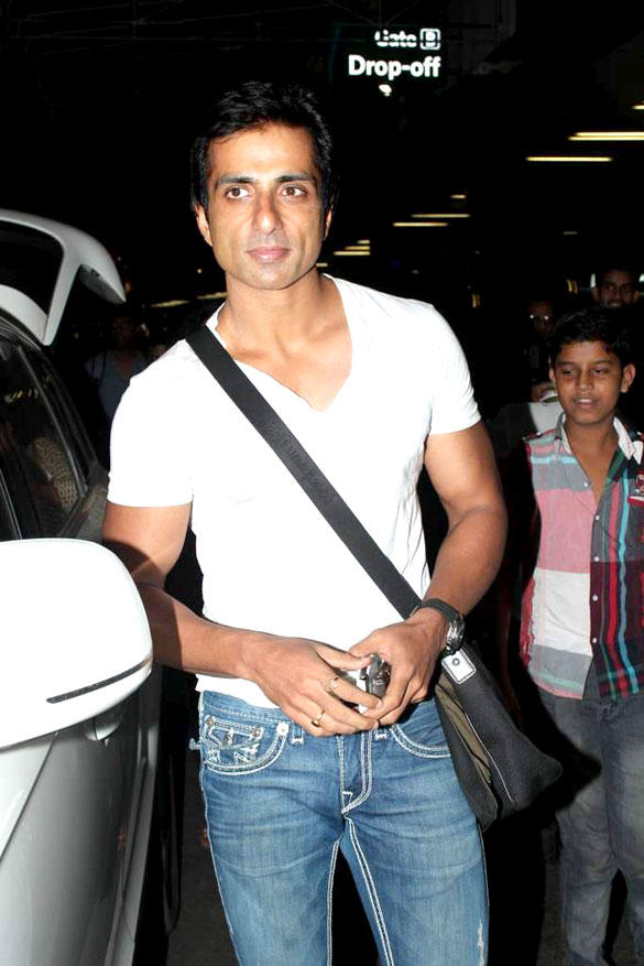 Sonu Sood At International Airport