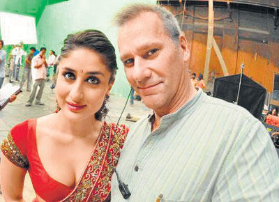 Kareena Kapoor Photo Shoot On Shooting Set