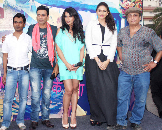 Nawazuddin,Manoj,Richa,Huma And Piyush At Music Launch
