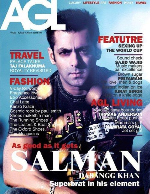 Salman On The Cover Page Of AGL Magazine