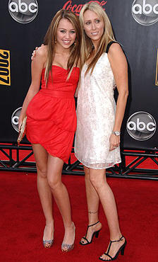 Miley Cyrus and Tish Cyrus On Red Carpet
