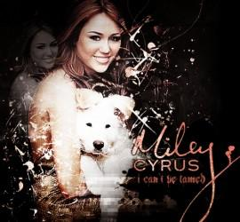 Miley Cyrus Smiling Pic With Cute Dog