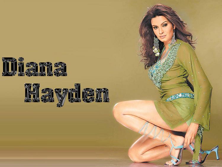Diana Hayden Milky Legs Exposing Wallpaper