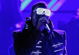 Kanye West White Goggles Performance Still