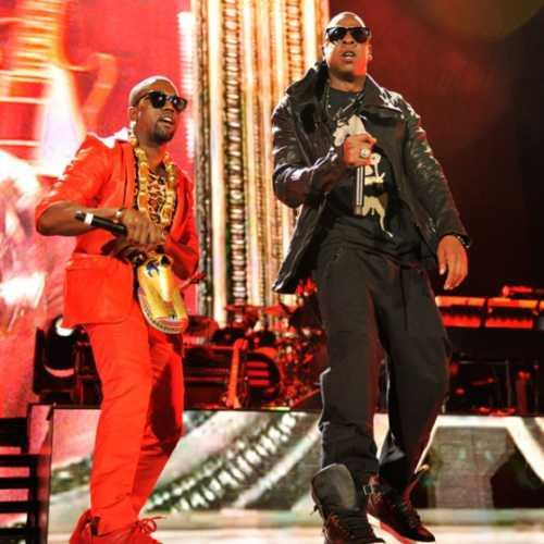 Singer Jay Z and Kanye West Performed On Stage