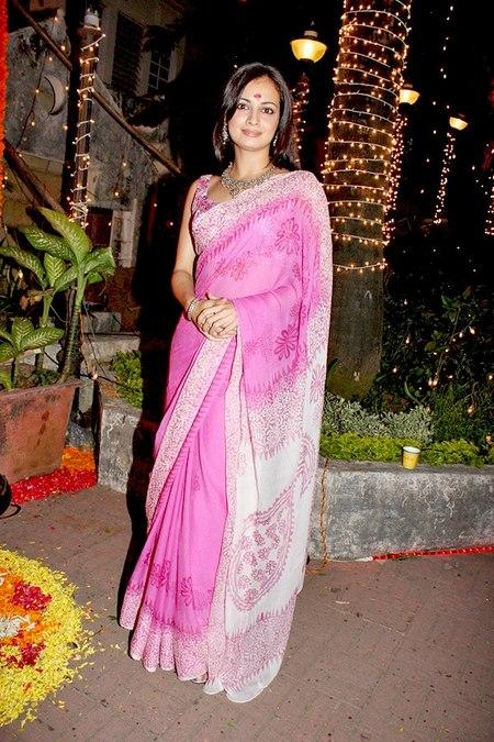Diya Mirza Looking Beautiful in Saree