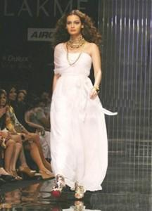 Diya Mirza Walk The Ramp In White Dress
