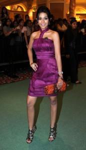 Amrita Rao Sexy Pic In Margenta Color Dress