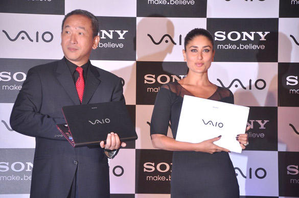 Brand Ambassador Kareena Launches Sony New Vaio Laptop