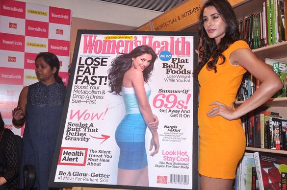 Nargis Fakhri Launches Women's Health Magazine June 2012 At Juhu