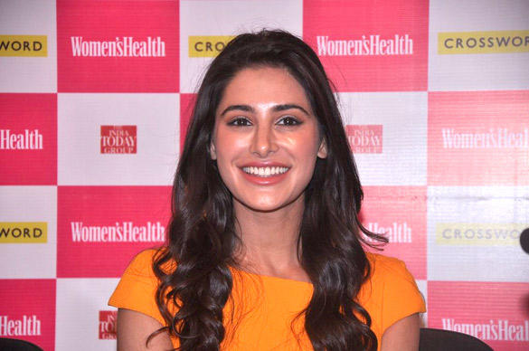 Nargis Fakhri Smiling Pic at The Launch Of Women's Health Magazine